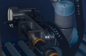 UR makes cobot solutions for quality inspection.